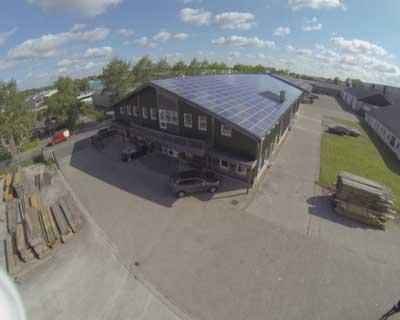 Drone foto's zonnepanelen Steenwijk Wicherson